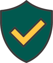Protect it, a shield with a lock icon