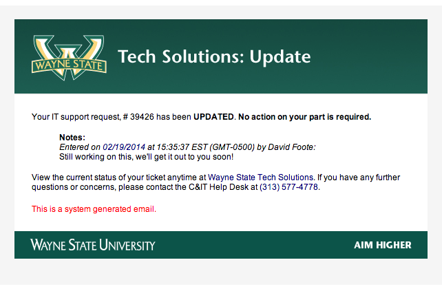 When do I receive emails from Tech Solutions? - Articles - C&IT ...